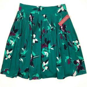 Merona Pleated Floral A-Line Skirt
